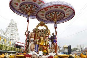 Rata Sapthami-Fourth Day Hanumantha Vahana Bramhotsavam